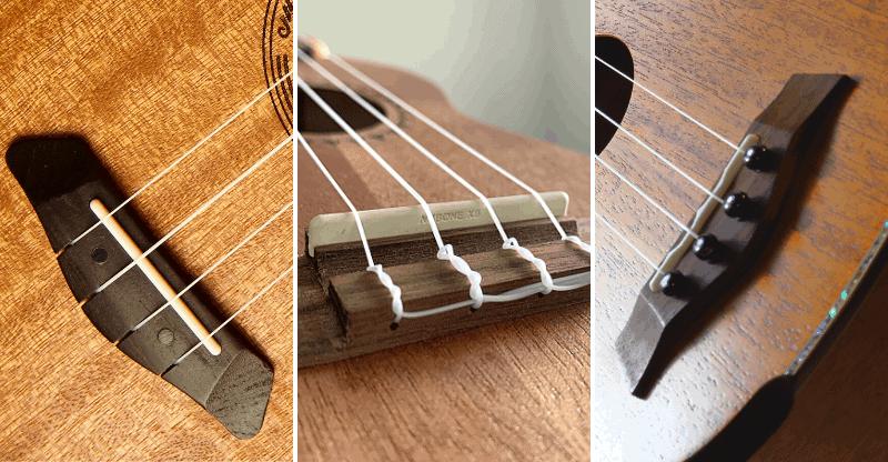 types of ukulele bridges