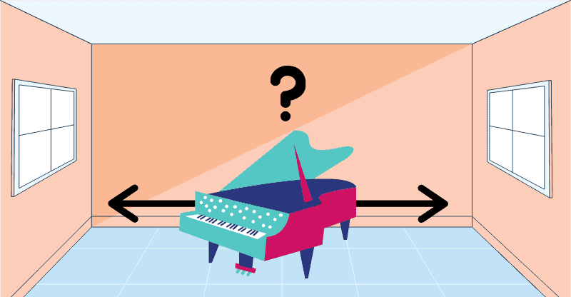 where to put a piano in a room